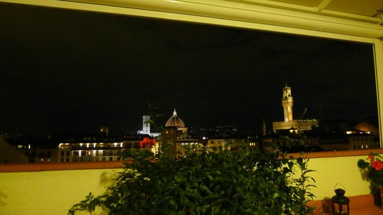 Pitti Palace al Ponte Vecchio : View from bar at night