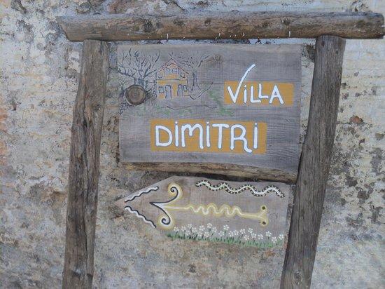 Villa Dimitri: The quaint entrance