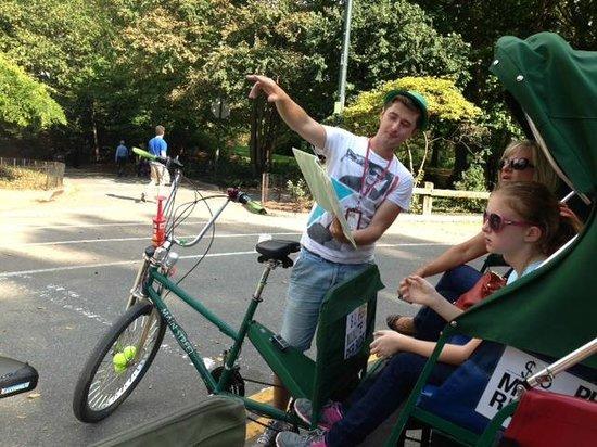 Peter Pen Tours of Central Park: Pedicab stop