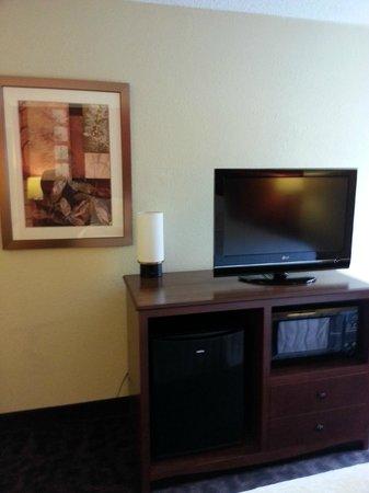 Hampton Inn Mansfield/Ontario : Tv, microwave, refrig
