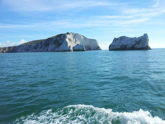 The Needles from the boat