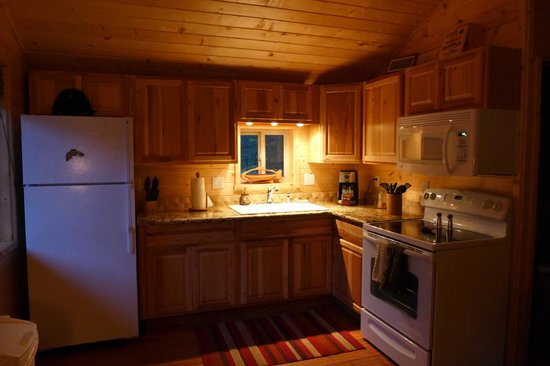 Reclusive Moose Cabins : Great new kitchen