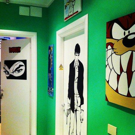 Comics guesthouse: Quartos temáticos