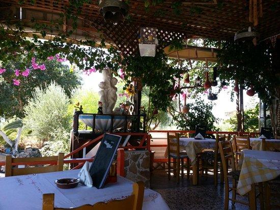 Babis: une petit partie de la terrasse du restaurant