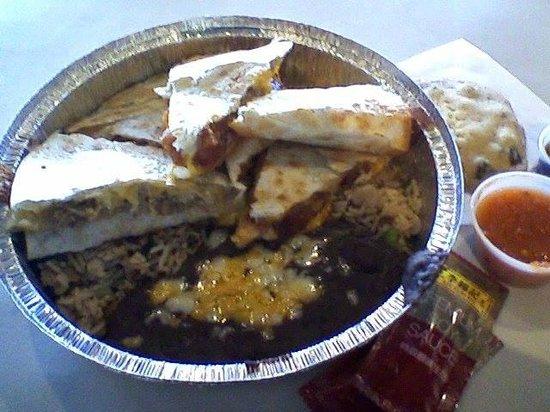 Chino Bandido: orange chicken quesadilla? YES!