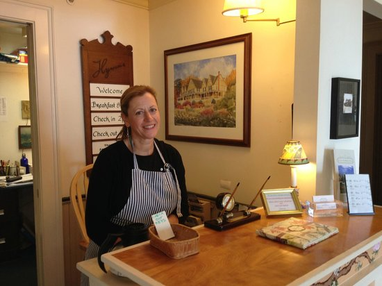 Five Gables Inn: Our friendly innkeeper, Susan.