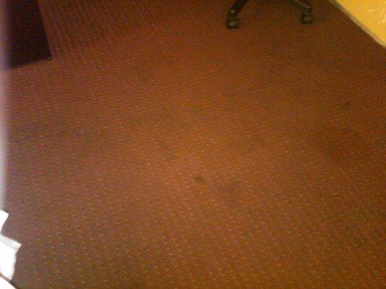 Americas Best Value Inn Oklahoma City/I-35 South : Stained carpet