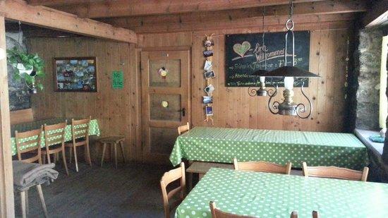 Rotstockhutte: Dining Room Inside   - Rotstock Hut
