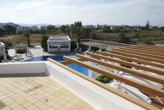 Porto Naxos Hotel : View from patio