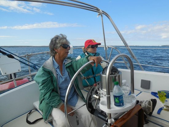 Sail Away On Wing - Private Trips: Diane at the wheel