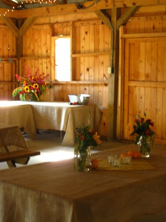 Valle Crucis Farm: Wedding venue area by creek.