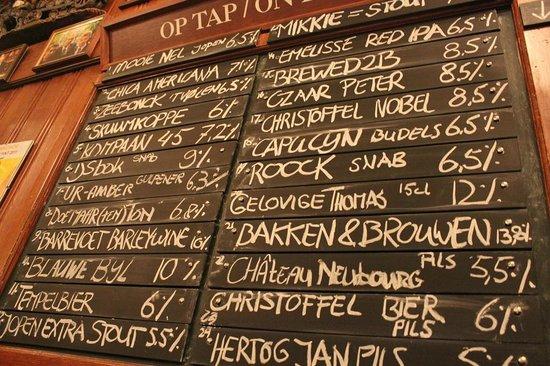 Proeflokaal Arendsnest : Variedade de cervejas