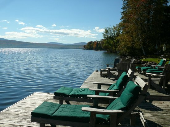 Hunter Cove Cabins on Rangeley Lake: View from docks