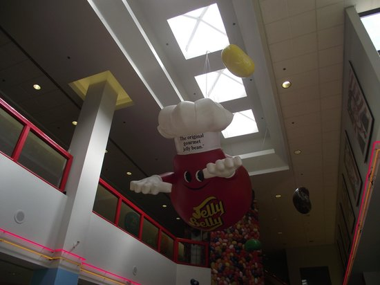 Jelly Belly Factory Tour: Just one of a many jelly beans floating around