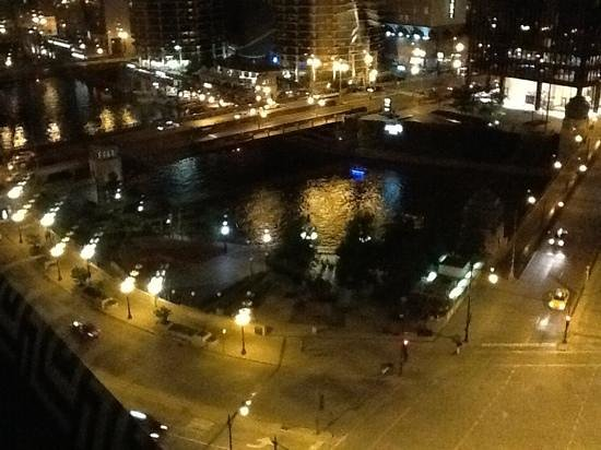 Kimpton Hotel Monaco Chicago: night view from room on 14th floor.