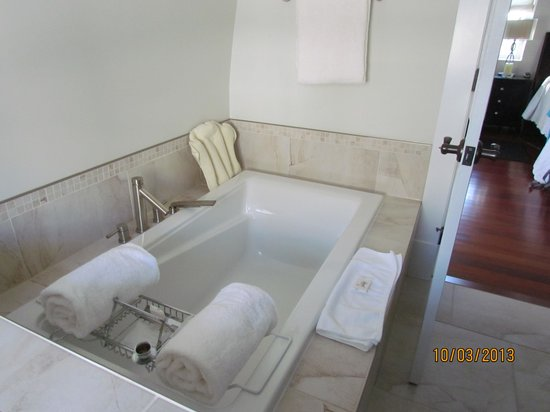 The Wellshire Bed and Breakfast: amazing tub to relax in