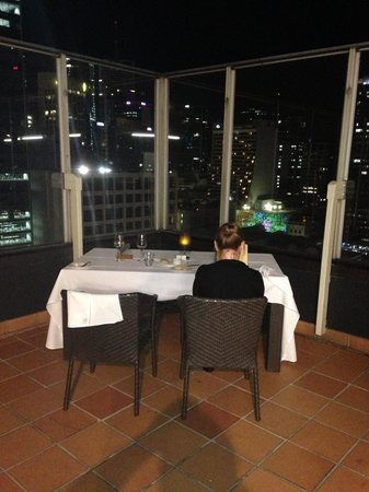 Pullman Brisbane King George Square: Private Rooftop dinner.  Spectacular!