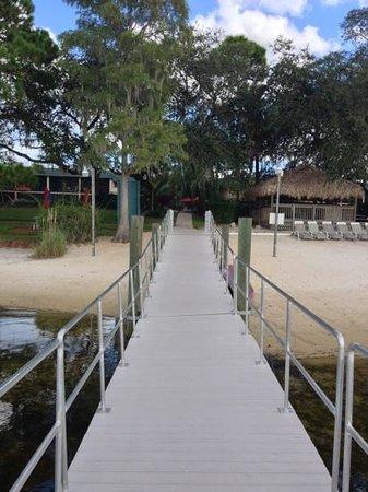 Grand Lake Resort : Dock and back of hotel