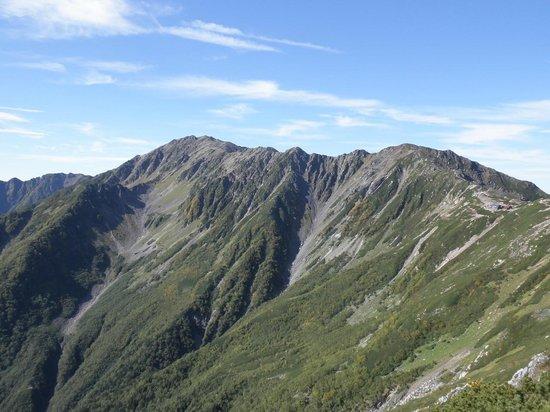 Mt. Mano: 間ノ岳に続く稜線