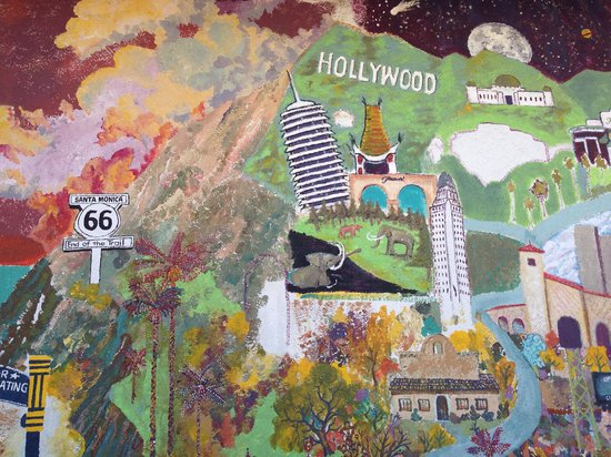 Original McDonald's Site and Museum: Mural Outside Building Side