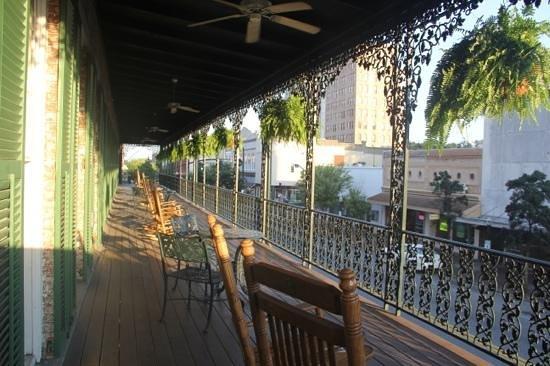Semi-private balcony