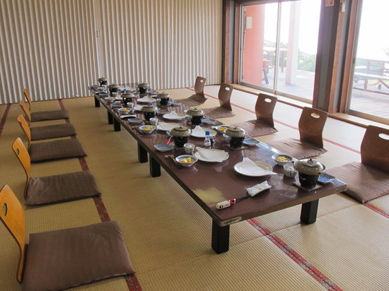 Umeyashiki Kairakuen: The dining room