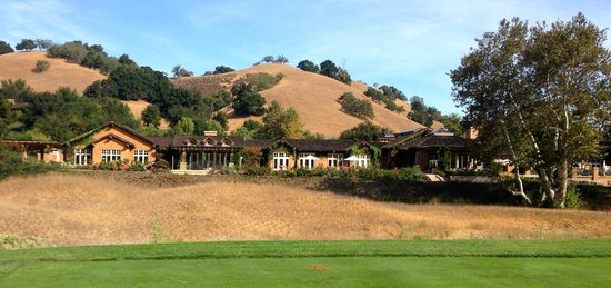 Rosewood CordeValle: View of hotel from golf course