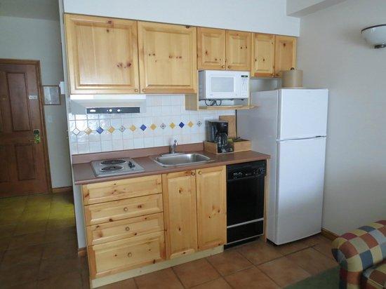 Hearthstone Lodge : Mini cozinha bem equipada
