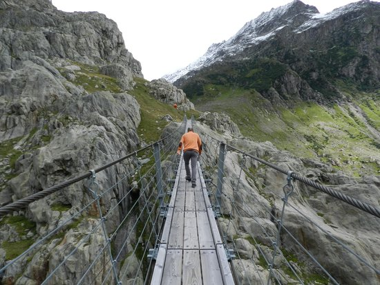 Trift Glacier Suspension Bridge
