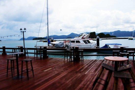 Resorts World Langkawi : View from the outdoor dining deck