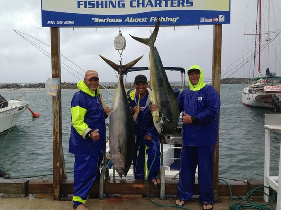Marlin Queen Fishing Charters : Juniors 61kg Yellow Fin on his birthday