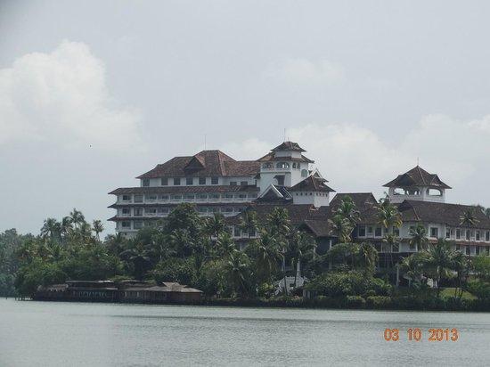 The Raviz Resort and Spa, Ashtamudi: View of The Raviz from Cruze Ride