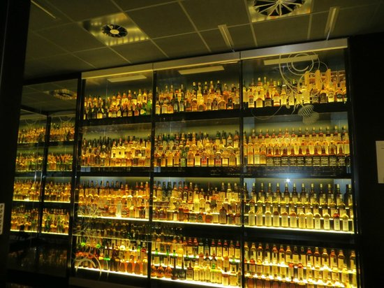 The Scotch Whisky Experience: A room filled with bottles of whiskey
