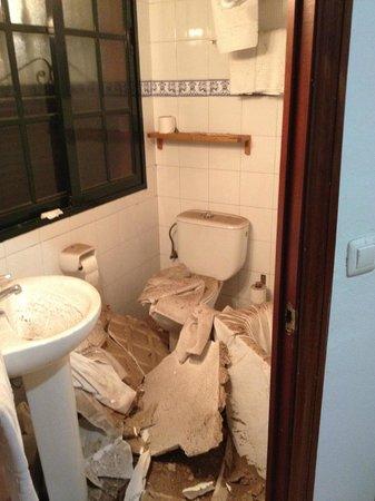 Hotel Londres: El techo caido