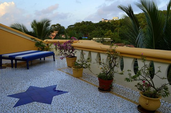Bougainvillea Guest House Goa : Private terrace attached to the penthouse suite