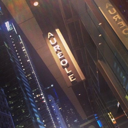 Aureole : Outside the restaurant