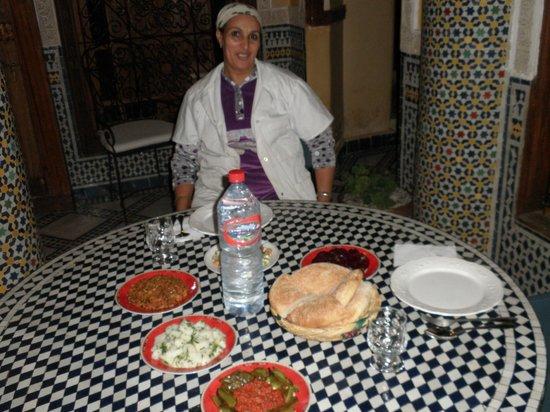 Riad Layalina Fez: l'excellente cuisine et cuisinière