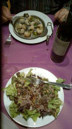 Le Gascon: Escargots et Salade de Terroir