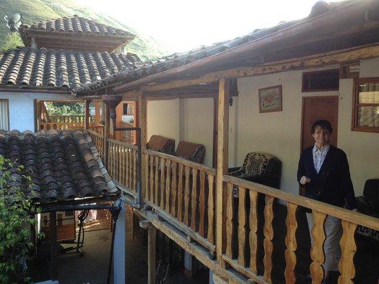 La Casona de Leymebamba: Le patio vu de la chambre