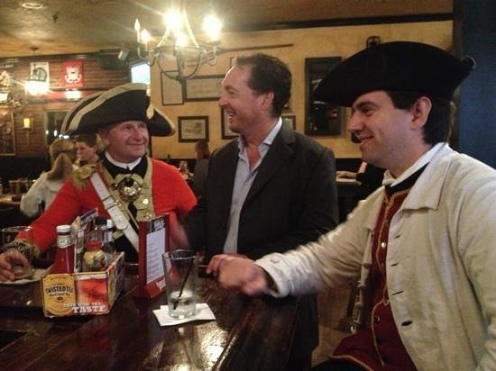 Lessons on Liberty: any tour that ends in a good pub cant be bad. we bumped into Michael too, what a fine fellow.
