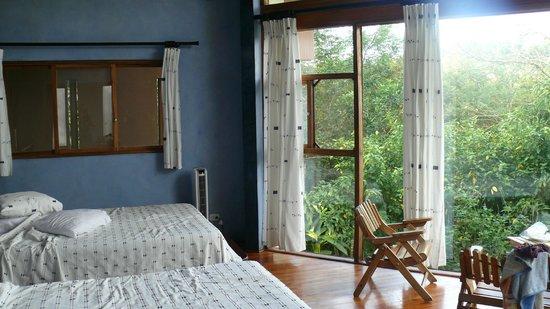 Tenorio Lodge : baie vitrée