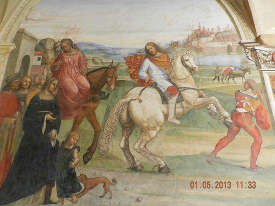 Abbazia di Monte Oliveto Maggiore: Affresco del Sodoma