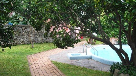 Hotel Bel Tramonto: giardino interno piscina