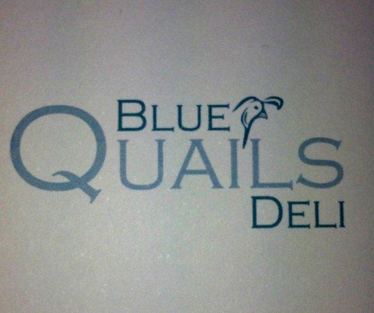 Blue Quails Deli: the logo