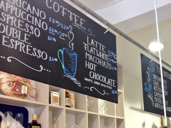 Blue Quails Deli: great choice of coffee