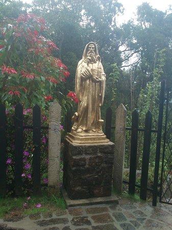 St Benedict's Monastery - Adisham: statue