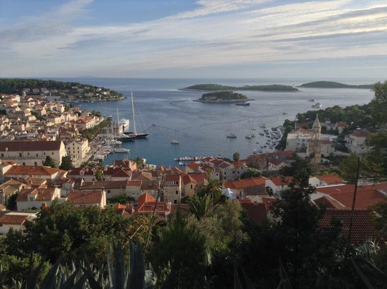 Villa Fio: Hvar City from the path up to the castle