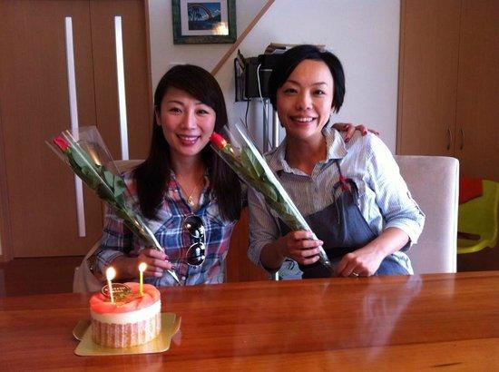 Nara Cooking Class Hanezu: It is me and Miyako San birthday, yes, we have same birthday!! :)