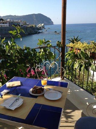 Hotel Umberto a mare: La colazione la facevamo qui