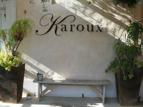 Karoux Restaurant : look out for the sign